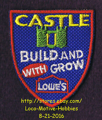 LMH PATCH Badge  CASTLE  Build Grow LOWES Kids Clinic Medieval Castles Shield