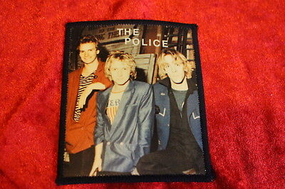 The Police - Fantastic  Photo Patch From 1981   - Never Used!  Very Rare!