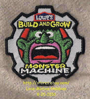 LMH PATCH Badge  2011 MONSTER MACHINE Machines Gear Build Grow LOWES Kids Clinic