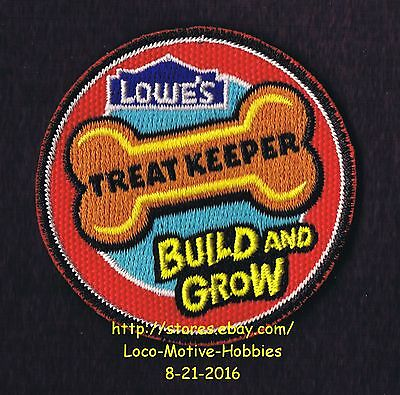 LMH PATCH Badge  TREAT KEEPER Dog Bone Cat Treat Build Grow LOWES Project Series