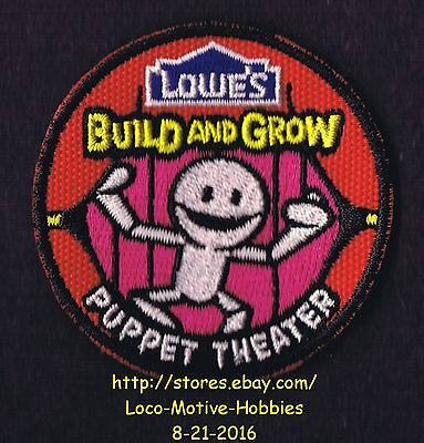 LMH PATCH Badge PUPPET THEATER Play MARIONETTE  Build Grow LOWES Project Theatre