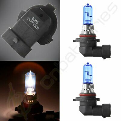 2X 6000K  9005 HB3 Halogen Super White Headlight Bulb 100W High Beam US Light