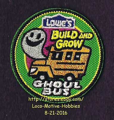 LMH PATCH Badge 2012 GHOUL BUS School Halloween Build Grow LOWES Project Series