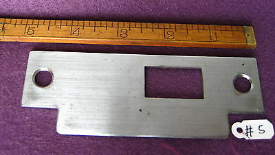 Old Antique Vintage Aluminum Mortise Lock &  Door Latch Plate Keeper Part #5