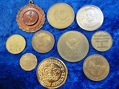Tokens Mixed Lots of 10 - Many Available - Transport, Repros, Commemorations ++