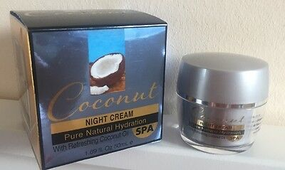 Spa Cosmetics Coconut Night Cream Pure Natural Hydration With Refreshing Oil 50m