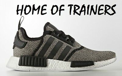 PTI Adidas NMD R1 Reflective Black Grey Women/'s Trainers All Sizes BA7476