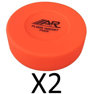 A&R Rubber Construction Floor Hockey Puck Best Quality Durable IFLPUCK (2-Pack)