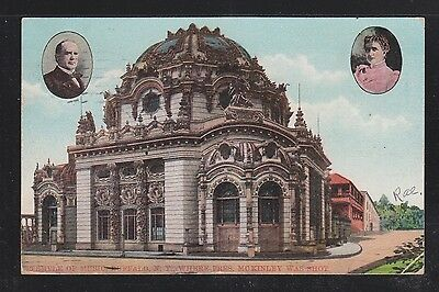 USA 1910 TEMPLE OF MUSIC WHERE PRESIDENT McKINLEY WAS SHOT POSTCARD NEW YORK