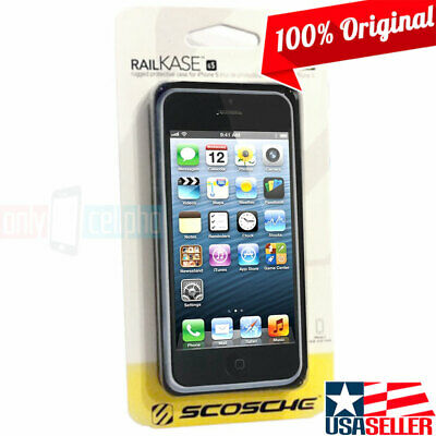 Scosche iPhone 5S/5/SE Black Aluminum Bumper Case Protector Dual Layer Cover