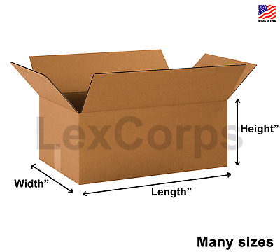 SHIPPING BOXES 25 Pack Cardboard Packing Mailing Storage Flat Cartons Moving Box