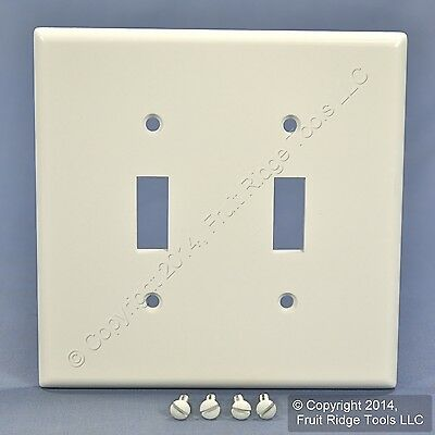 Leviton White MIDWAY 2-Gang Toggle Switch Cover Wall Plate Switchplate 80509-W