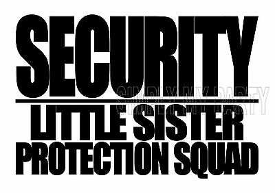 Iron On Transfer Or Sticker - Big Brother - Security Little Sister Protection
