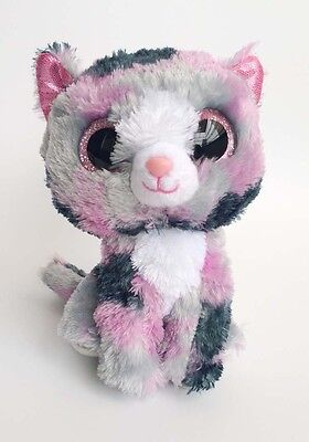 "6"" TY Beanie Boos Lindi Kitty Cat 6 Inches Plush Stuffed Animals Toys ty138"