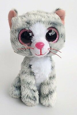 "6"" TY Beanie Boos Animals Grey Cat 6 Inches No Tags Plush Stuffed Toys ty122"