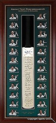 Ashes Legends Bat, Signed by 25 incl Bradman Benaud