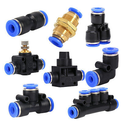 Assorted Pneumatic Fittings Air Valve Water Hose Tube Pipe Connector Joiner New