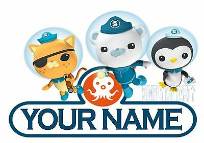 Iron On Transfer - Octonauts Personalised With Your Name