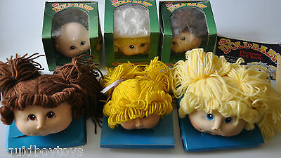 lot of 6 LITTLE BABY DOLL Toy Doll HEADS Fibre-Craft Materials 1985