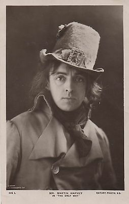 POSTCARD  ACTORS Martin Harvey  in The Only Way
