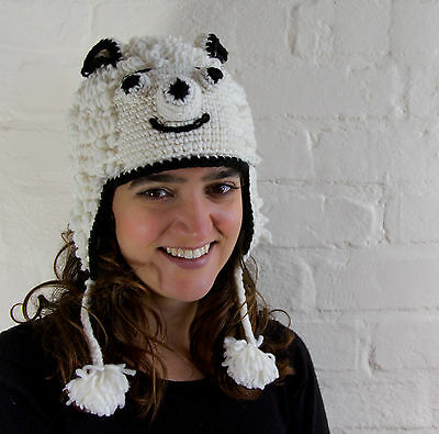 Animal Handmade Hat with Partial Fleece Lining - Fairly traded from Ecuador
