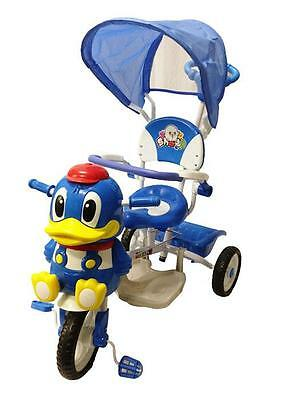 Deluxe Happy Duck Toddler Kid Bike Tricycle Ride on Trike Parent Control Handle