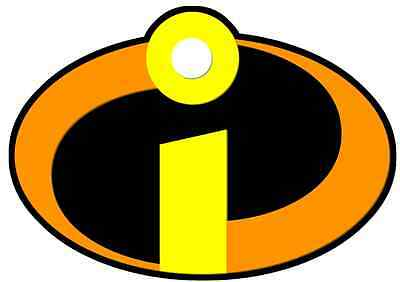 IRON ON TRANSFER OR STICKER - THE INCREDIBLES LOGO - SUPER HERO superhero