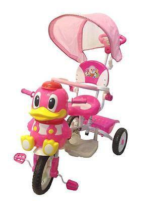 Deluxe Happy Duck Kid Toddler Bike Tricycle Ride on Trike Parent Control Handle