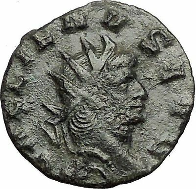 GALLIENUS 253-268AD Authentic  Rare Ancient Roman Coin Providentia i57414