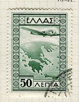 GREECE;  1933 early AIR issue fine used 50d. value