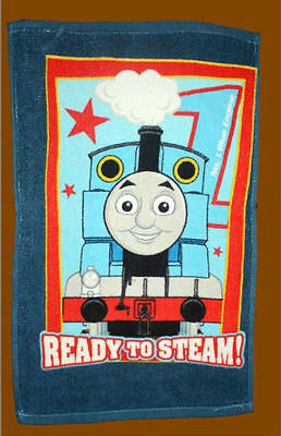 THOMAS THE TRAIN BLUE 30 x 50 cm Ready to Steam Design Daily Use COTTON TOWEL