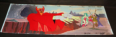 Original Ghostbusters Filmation Animation Cel 5019 With Painted Background
