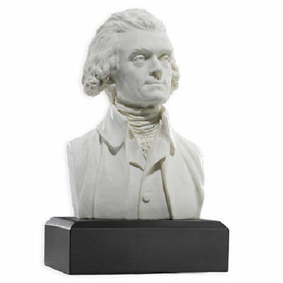 PRESIDENT THOMAS JEFFERSON Bust  Statue Historical  Sculpture **NICELY DETAILED