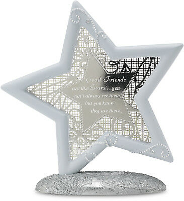 Little Things Mean A Lot Good Friends Self Standing Star, 5.25in