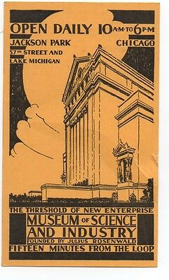 1930s Advertising Card from the Museum of Science & Industry Chicago