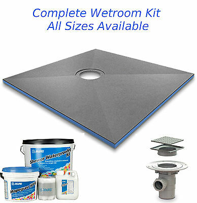 Wet Room Wetroom Shower Tray Kit with Mapei Install Kit