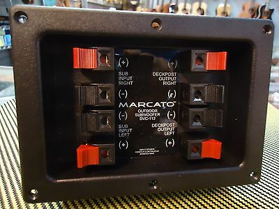 Marcato DVC-112 Outdoor Subwoofer Crossover with Input Terminals
