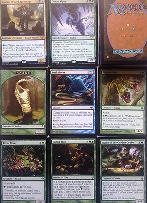 Instant SNAKE DECK! Ready To Play 60 Cards Mtg GREEN BLUE