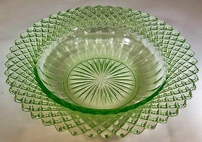 "Hocking Glass Co. Miss America Green 6-1/4"" Diameter Cereal Bowl-Mint!!"