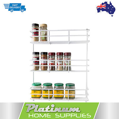 New Spice Rack 3 Tier Wall Spices Kitchen Pantry  Jar Organiser Shelves Storage