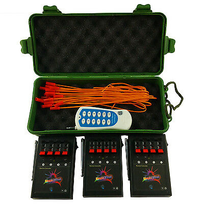 10PCS/lot 12CH Wireless Fireworks Firing System+Remote stage electric igniter