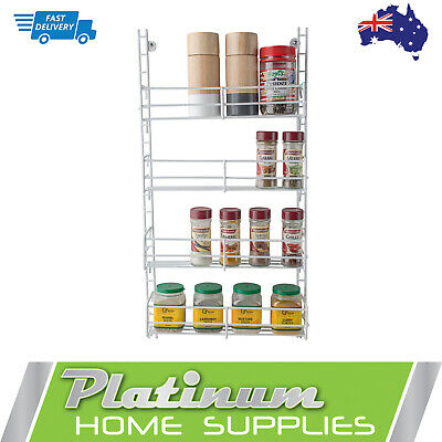 New Spice Rack 4 Tier Wall Spices Kitchen Pantry  Jar Organiser Shelves Storage