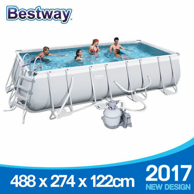 2017 Bestway Above Ground Swimming Pool 488x274x122cm 16ft 1000GPH Sand Pump
