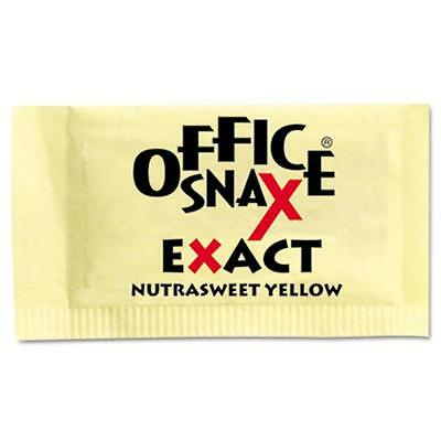 Office Snax 00062 Nutrasweet Yellow Sweetener, 2000 Packets-Carton