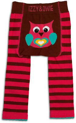Pink and Brown Owl - 6-12 Month Baby Leggings