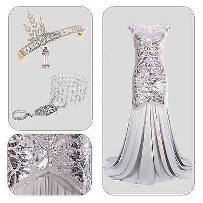 1920s Flapper Dress Gatsby Charleston Cocktail Party Long Evening Prom Dress
