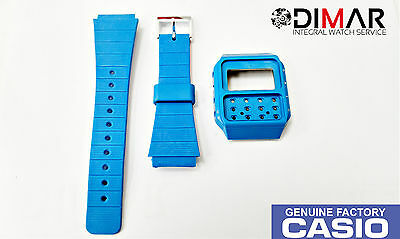Vintage Casio Case And Band J-100 Blue Nos