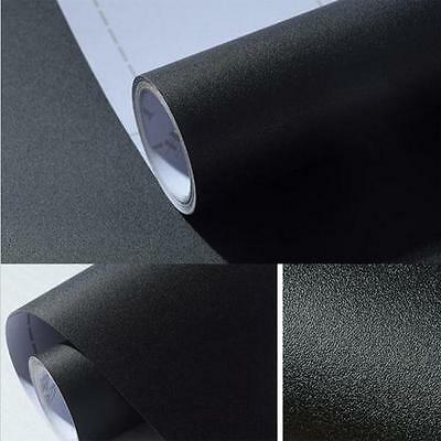 Matte Self Adhesive Vinyl Contact Paper 24-Inches by 78.7-Inch Black Gray