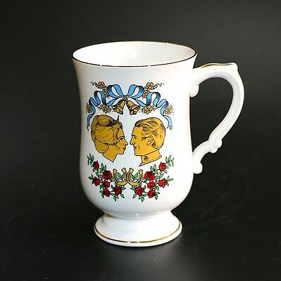 Crown Staffordshire Bone China Footed Mug Princess Anne To Mark Phillips Wedding