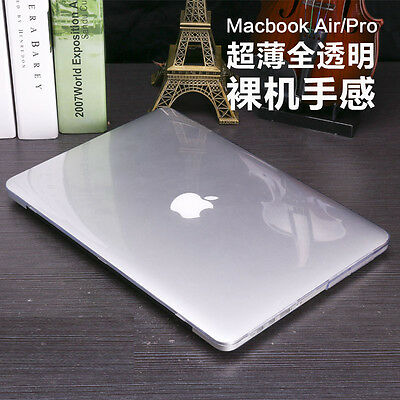 """Crystal Hard Case + Keyboard Cover For Apple MacBook Air 11"""" 13"""" Pro 13 inch Mac"""